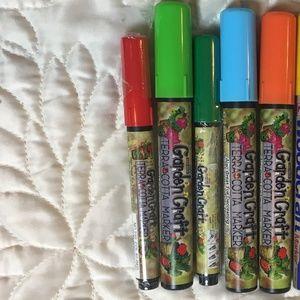 5 Garden Craft Terra Cotta markers